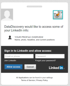 Linkedin Authroization request page